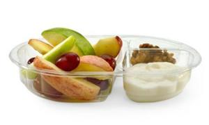 A McDonald's Snack Size Fruit & Walnut Salad