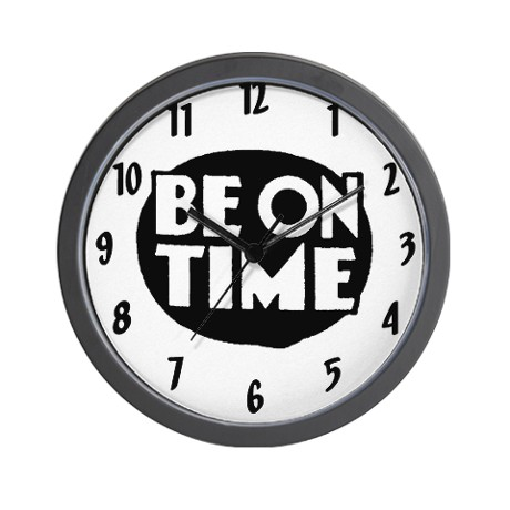 Image result for be on time
